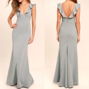 Perfect opportunity grey maxi from Lulus